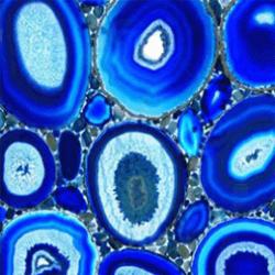 Kék achát ásvány panel