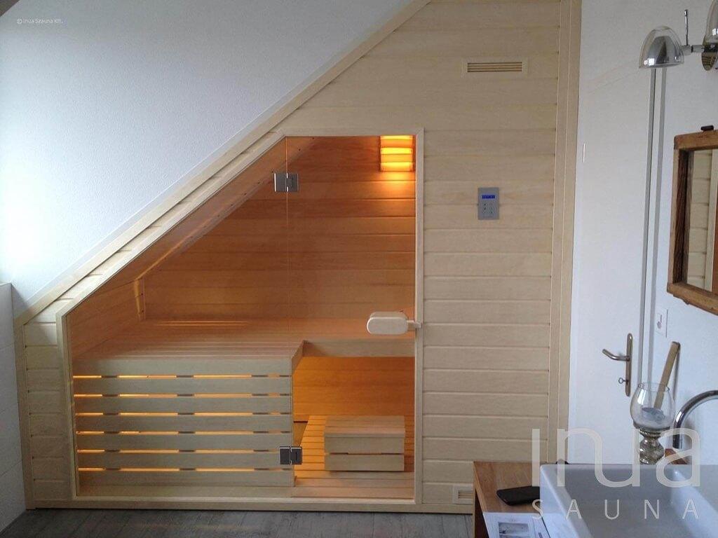 Tetőtéri beltéri szauna építés Oberwilben. | Inua Szauna Kft.
